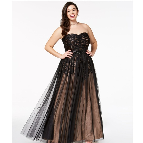biggest discount various colors special section Trendy Plus Size Strapless Tulle-Overlay Ball Gown NWT